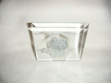 Hand Cut Glass Tea Lite Holder 25th Anniversary Design