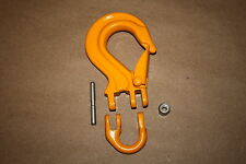 Hook for Winch Cable with Safety Latch Orange Large ATV UTV 5000 LB