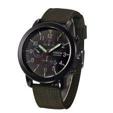 Mode Herren Militär Quarzuhr Date Edelstahl Nylon Luxus Sport Uhr Armbanduhren