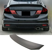 Fits 13-15 Honda 9 Gen Civic Sedan JD-P Style Rear Trunk Spoiler Wing ABS Black
