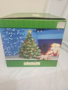 "Christmas Tree Cookie Jar 12"" Tall 8"" at Base"