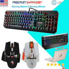 RGB LED 104 Keys Wired Keypads Backlit Mechanical Gaming Keyboard Anti-Ghosting