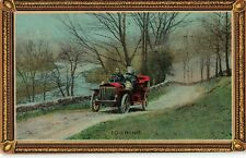 Postcard Vintage Car Touring