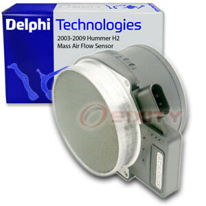 Delphi Mass Air Flow Sensor for 2003-2009 Hummer H2 6.0L 6.2L V8 Intake fk