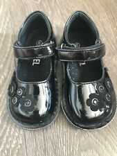 Angel Black Patent Leather Toddler Girl Shoes Mary Jane Size 6