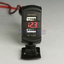 12V 4.2A Dual USB Charger LED Voltmeter Voltage Meter Switch Panel