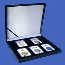 Display Box Five 5 Slab NGC/PCGS/Premier/Lil Bear Coin Guardhouse Leatherette