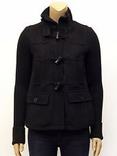 NWT GAP Black Wool Toggle Winter  Knit Sweater Sleeve Jacket Coat Sz S