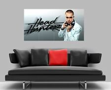 "Headhunterz senza confini MOSAIC TILE muro poster 47 ""X 25"" HARDSTYLE"