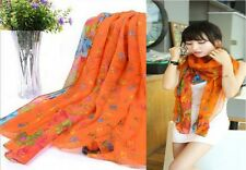 2017 New Women's Long Fashion Soft Cotton blend Shawl Flower Wraps Scarf Scarves