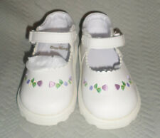 NIB Darling Baby Shoes White Floral Embroidered Mary Janes SZ 8T