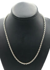 "OTC Men's Sterling Silver 925 20"" 20 Inch Rope Chain 4 mm - 23.9 Grams"