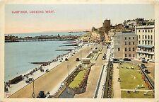 1940s Printed Postcard; Hastings Looking West, Sussex Uk Posted
