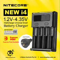 New Nitecor i4 Smart Battery Charger 4-slot Li-ion 18650 26650 AAA Ni-MH RCR123
