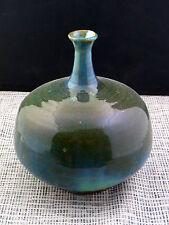 schöne alte Vase Keramik signiert Art Deko Überlauftecknik