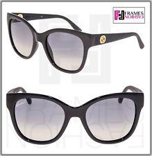 d489bb67e23 GUCCI GG3786S Diamond Shiny Black Rubber Gradient Cat Eye Sunglasses 3786  Women