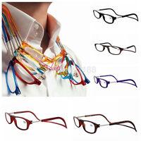 UK Front Connect Magnetic Adjustable Reading Glasses Anti-fatigue Hanging Reader