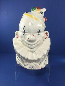 Vintage, McCoy Clown Cookie Jar, 1940's, w/ Lid