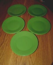"1 Rare Fiestaware Fiesta 9/"" Black Lunch Plates Seamist Chartreuse Peacock MR182"