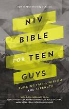 NIV Bible for Teen Guys, Hardcover: Building Faith, Wisdom and St by Zondervan