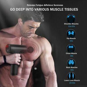 Electric Massage Gun Massagepistole Massager Muscle Massagegerät mit 4 Köpfe DHL