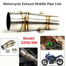 Motorcycle Exhaust Middle Pipes Link Welding Head Muffler Mid Section Interface
