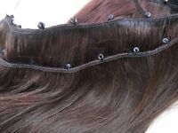 Micro Ring weft 100% Human hair, Rings sewn on ready for wear.
