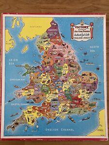 Victory Industrial Life Orig. Vintage Wood Jigsaw England & Wales 7482 Complete