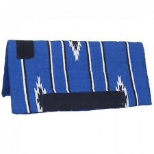 Tough 1 Blue/Black 32x32 Sierra Square Fleece Bottom Saddle Pad equine 31-645