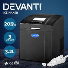 Devanti 3.2L Portable Ice Maker Commercial Machine Ice Cube Countertop Black