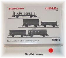 Märklin 94984 Güterwagen-Set 5-teilig der DB gealterte Ausführung #NEU in OVP#
