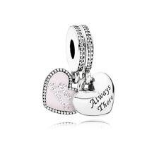 Authentic Pandora Charm Best Friends Pink Enamel Clear CZ Dangle Bead 791950CZ