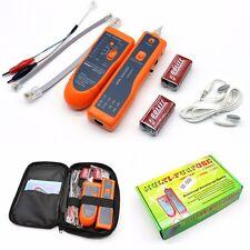 Network Phone Wire RJ45 Line LAN Cable Tracker Toner Tracer Tester+9V Battery UK