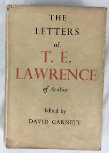 Original 'The Letters of T.E. Lawrence' Book 1st Edition, Dust Jacket, Maps 1938