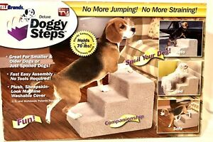 Deluxe Doggy Steps-3 Steps, Up to 70lbs (As seen on TV) Snaps Together