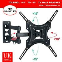 TV Wall Mount Bracket Shelf Tilt & Swivel Flat Plasma LCD LED 32 37 42 46 50 55""