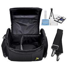 Deluxe Digital Camera/Video Padded Carrying Case - Medium + Deluxe Starter Kit