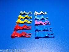 Lego ® 10 banderas en diferentes colores 4495 como se muestra en la imagen