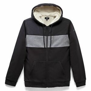Casual Zip Hoodie > Alpinestars Hoist Hybrid Sherpa Lined Fleece Jacket - Black