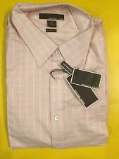 $175 NEW MICHAEL KORS PREMIUM MEN'S Pink Check CASUAL SHIRT SIZE XL TAILOR FIT