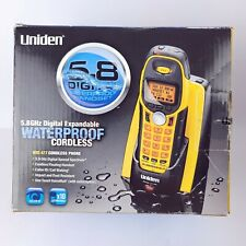 Uniden 5.8 GHz Waterproof Floating Phone Single Line Expandable Cordless Phone