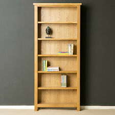 London Oak Large Bookcase / Light Oak Tall Bookcase / Solid Wood Shelving / New