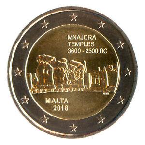Sondermünzen Malta: 2 Euro Münze 2018 Tempel von Mnajdra Sondermünze Gedenkmünze