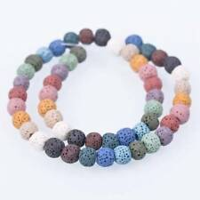NEW Natural Lava Stone Volcano Round Loose Spacer Beads 6mm 8mm 10mm 12mm 14mm