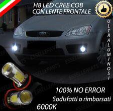 COPPIA LUCI FENDINEBBIA H8 LED CREE COB CANBUS FORD FOCUS C-MAX NO ERRORE