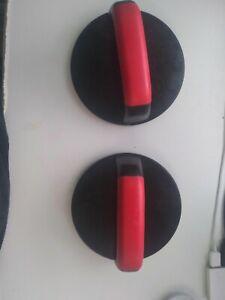 Iron Gym Push-Up Pro Rotating Push-up Bars Handles Pair - Black & Red