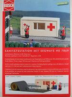"""Busch H0 7869 ACTION SET """"Sanitätsstation"""" mit Segways (Bausatz) 1:87/H0 NEU/OVP"""