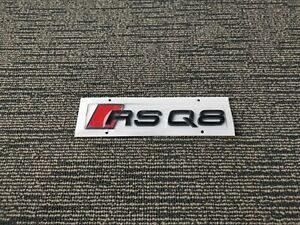 Gloss Black Audi RSQ8 Emblem Badge OEM Style Size Rear Logo Replacement Decal