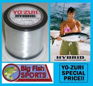 YO-ZURI HYBRID Fluorocarbon Fishing Line 12lb/600yd CLEAR NEW! FREE USA SHIP!