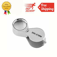 30X21 Triplet Jeweler Eye Loupe Magnifier Magnifying Glass Jewelry Diamond+Box
